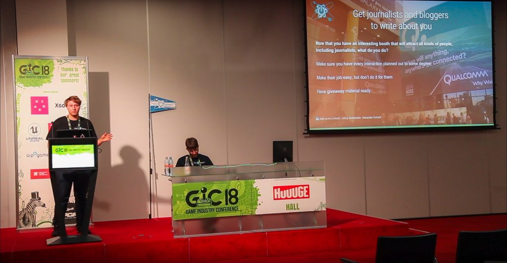 GIC Soliton Solutions Talk Johny Krahbichler Trade show marketing media buzz hype presentation game industry conference