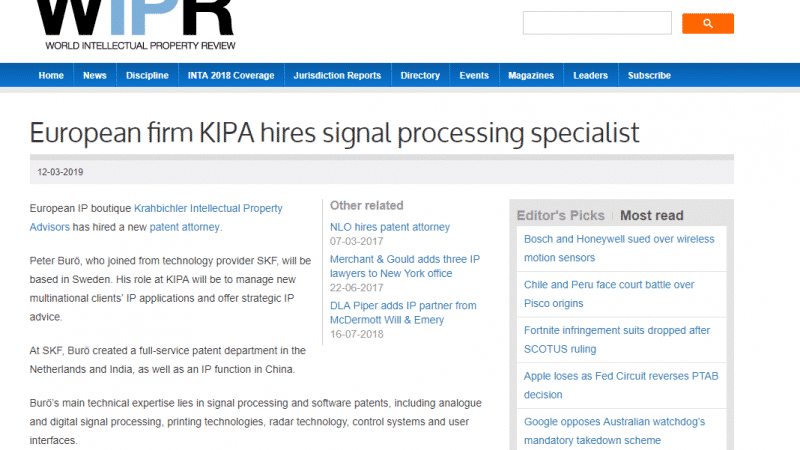 press mention kipa soliton solutions pr